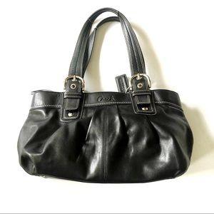 Coach Black Leather Boat Bag